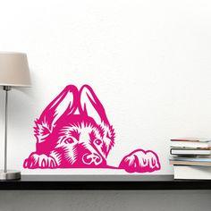 Naklejka na ścianę Pies Ciekawski Owczarek - Psiakrew - Naklejki na ścianę