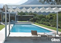 Gibus Group, leader in the production of awnings and pergolas for sun protection and energy saving Save Energy, Pavilion, Country, Outdoor Decor, Home Decor, Littoral Zone, Swiming Pool, Decoration Home, Rural Area
