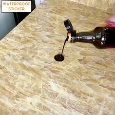 Waterproof And Dirtproof Stickers ,  #Dirtproof #Stickers #towelrackbathroomvideos #Waterproof Towel Rack Bathroom, Kitchen Towels, Kitchen Sink, Kitchen Shelves, Kitchen Storage, Kitchen Hacks, Kitchen Gadgets, Flat Shapes, Kitchen Fixtures