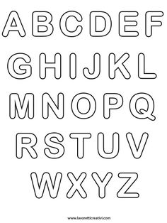 alphabet letters coloring pages