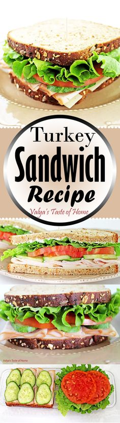 This Turkey Sandwich Recipe is one of our favorite sandwiches. The sandwich is loaded with vegetables of home grown cucumber and tomatoes which makes it taste absolutely desirable. Its perfect as a quick meal at home or on the go. This is one of those sandwiches that never gets old, always cravable, so easy to make and healthy for you too!