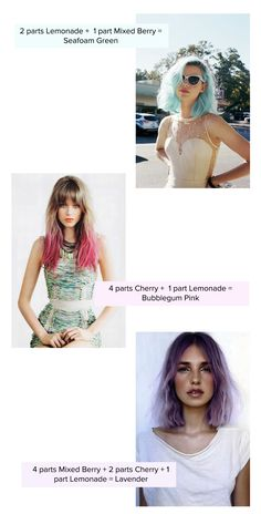 Dye your hair with Koolaid: Color Chart