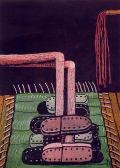 Philip Guston - The Green Rug / http://www.wikipaintings.org/en/search/guston
