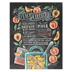 Artículos similares a Peach Print - Kitchen Art - Peach Art - Peach Cobbler - Chalkboard Art - Chalk Recipe Art - Summer Kitchen - Chalk Art Recipe - Hand Drawn en Etsy Summer Chalkboard Art, Chalkboard Print, Chalkboard Decor, Chalkboard Drawings, Chalkboard Lettering, Smoothie Menu, Lily And Val, Menu Design, Kitchen Art