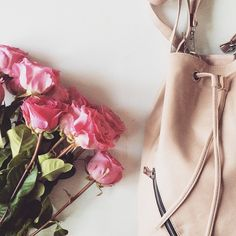 """I had a lovely Valentine's Day...I hope you all did as well "" #pink #roses #flatlay"