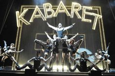 Wilkommen! Cabaret the musical production shot. The show stars Michelle Ryan as Sally Bowles and Will Young as Emcee.