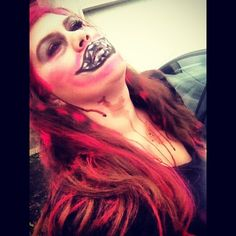 Holloween makeup.