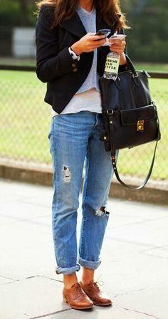 Street Scene Vintage: How to Wear: Boyfriend Jeans
