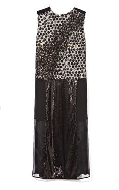 Meandering Branch Embroidery Dress by Peter Som for Preorder on Moda Operandi