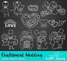 Kit Digital Chalkboard Casamento