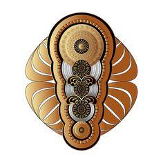 Circumplexical No 3658 by Alan Bennington Fractal Art, Fractals, Art Prints For Sale, Mandala Design, Digital Art, Greeting Cards, Wall Art, Artwork, Mandalas