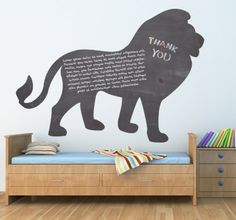 Blackboard silhouette of a Lion. #Animals #Lions #Wildlife #Blackboard #KidsBedrooms #Chalkboard #Original #Silhouette #Kids #KidsBedroomIdeas #KingOfTheJungle #TheLionKing #Safari