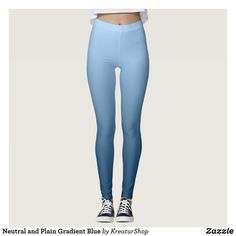 Neutral and Plain Gradient Blue Leggings Blue Leggings, Yoga Leggings, Yoga Pants, Fitness Fashion, Gym Fashion, Running Tights, Look Cool, Leggings Fashion, Workout Pants