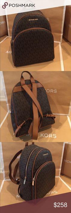 Michael Kors Abbey Large Backpack Brown/Acorn 100% Authentic Michale Kors Abbey Large Backpack Brown/Acorn Michael Kors Bags Backpacks