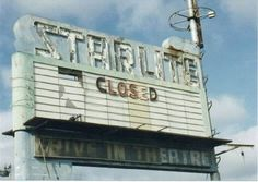Starlite Drive-In in Merced, California: Marqee of the long gone Starlite Drive-In in Merced, CA. The marqee is all that remains....
