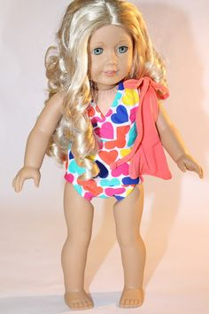 "Free American Girl or 18"" Doll Swimsuit Pattern"