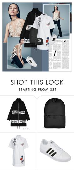 """""""..."""" by margarita-m-a ❤ liked on Polyvore featuring Rains, adidas and Ivy Park"""