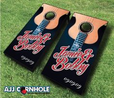 Your guests will have so much fun at your wedding reception with custom cornhole sets! Order yours TODAY at www.ajjcornhole.com