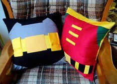 Almofadas Batman e Robin