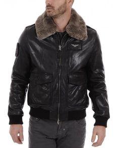 Aviateur Cuir homme Redskins Alpha – La Canadienne, blouson cuir noir