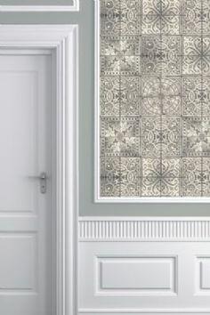 Louise Body Patchwork Tea Tile Wallpaper 3m Panel