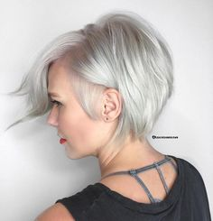 Silver Side-Parted Pixie Bob