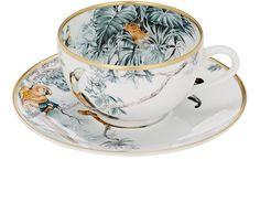 Hermès Carnets D'Equateur Tea Cup & Saucer Set | Barneys New York