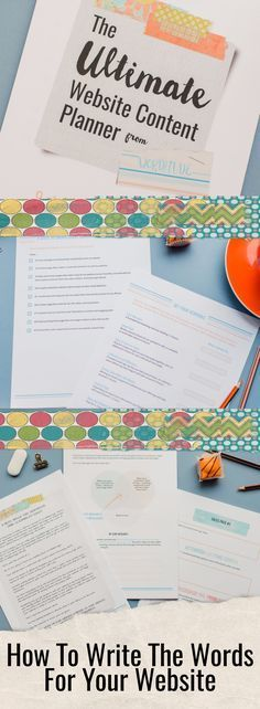Get help writing your website content with this Ultimate Website Content Planner. For solopreneurs, entrepreneurs and small businesses. Great content marketing starts with great website design and website copy. Created by a professsional digital copywriter.