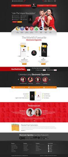 A cool design for #Electronic #cigaret #Website. -Design by #TW #Designers #eCigaret