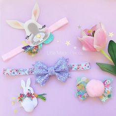 This very Sparkly Glitter Bow Headband is made with love and these colours are so perfect for Easter holidays. Felt Hair Clips, Bow Hair Clips, Felt Flower Pillow, Felt Hair Accessories, Glitter Hair, Glitter Fabric, Making Hair Bows, Boutique Bows, Elastic Headbands