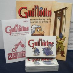 Guillotine - I found this at a garage sale for 50 cents years ago and it's been a favorite ever since.  It's gruesome and fun.