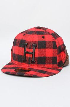 230dc025a1a The Classic H Era Flap New Era Cap in Red by HUF