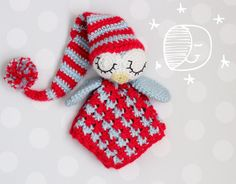 Security Blanket crochet pattern lovey Sleepy by KarapoozCrochet, $5.50