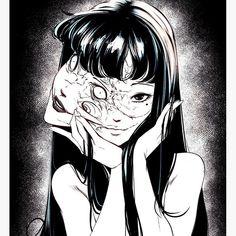 M Anime, Anime Art, Aesthetic Art, Aesthetic Anime, Arte Indie, Japanese Horror, Junji Ito, Dark Art Drawings, Scary Art