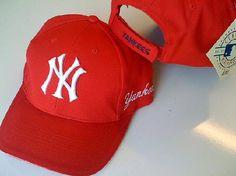Licensed Major League New York Yankees Baseball Cap (Red)