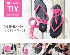 ReFab Diaries: DIY: Gap & Threadless D.I.Y. = use a T shirt to embellish your sandals!