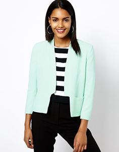 River Island Collarless Tailored Jacket