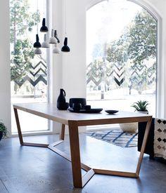 Кухонный стол S&W 2 OAK  www.steelandwoodshop.ru
