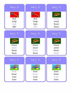 """Juf Kristaheeft mooie kwartetkaartjes voor kern 1 t/m 11 gemaakt!  ][vc_images_carousel images=""""3968,3967,3966,3964,3963,3962,3961,3960,3959,3958,3 Spelling, School, Schools, Games"""