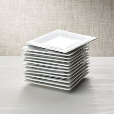"""Boxed 6"""" Appetizer Plates, Set of 12 