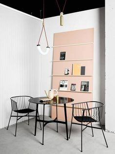 pale pink + black/white