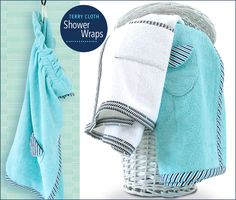 Terry Cloth Shower Wraps for Men & Women: Fabric Depot & Shannon Fabrics | Sew4Home