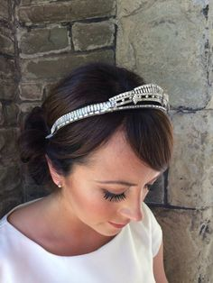 Vintage tiara - antique tiara -  bridal crown - Art deco headpiece - bridal headdress - Downton Abbey tiara - Royal wedding tiara