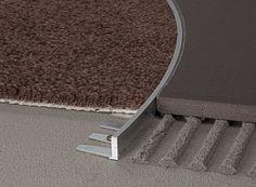 Profili curvabili: una soluzione a misura di pavimento Transition Flooring, Joinery Details, Interior And Exterior, Interior Design, Elements Of Design, Building Materials, Terrazzo, Bauhaus, Architecture Details