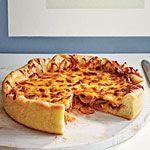 Deep-Dish Mushroom and Onion Pizza Recipe | MyRecipes.com
