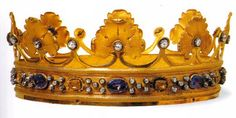 Crown, early 19th century, gold, diamonds, 8 sapphires, a zircon and 8 quartzes. Donated by Queen Maria Theresa, a consort of King Vittorio Emanuele I di Savoia in 1820