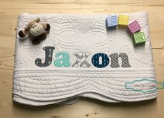 Personalized baby quilt personalized baby gift monogrammed quilt personalized baby quilt personalized baby gift monogrammed quilt baby shower gift baby negle Image collections