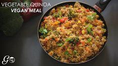 Vegan Quinoa Recipe l One Pot Vegan Vegetable Quinoa Recipe l Vegan Meal Made Easy Dinner Vegetarian – Dinner Recipes Vegan Quinoa Recipes, Vegetarian Recipes, Healthy Recipes, Healthy Food, Vegan Main Course, Vegetable Quinoa, Healthy Vegetables, Easy Food To Make, Going Vegan