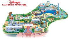 California Adventure Map