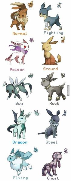Evee's other forms